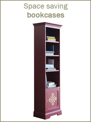 Space saving bookcases, wooden bookcase, tall bookcase for office, bookshelf in various sizes
