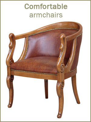 Wooden armchairs category, solid beech wood armchairs, traditional style armchairs for living room