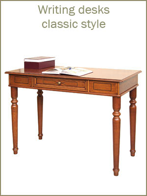 Writing desk category, wooden classic desk for office, study room desk, functional writing desks