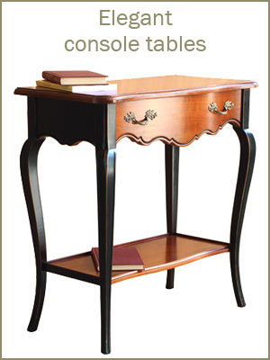 Console tables category, wooden console tables, entryway furniture Italian design