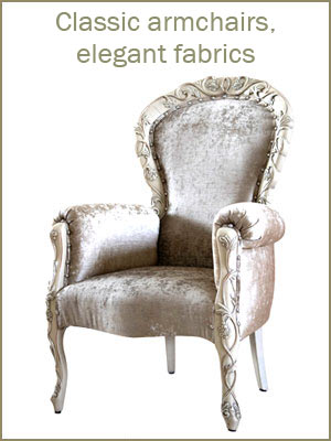 Classic armchairs category, classic style armchairs, high quality armchairs, luxury armchairs, upholstered armchairs for classic living rooms