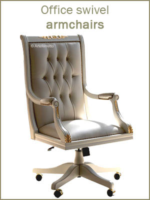Office swivel armchairs, upholstered swivel armchairs for office, wooden executive armchair