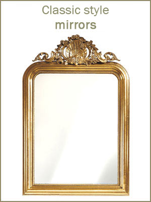 Classic style mirrors, classic frames in wood, elegant wood mirrors