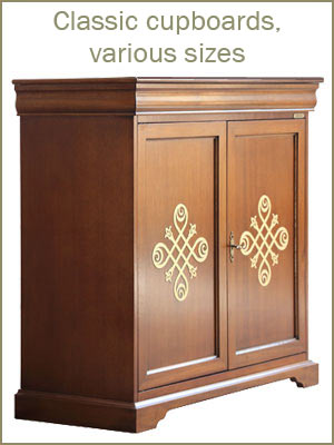 Classic cupboards, various sizes sideboards, wooden cabinets, sideboards category