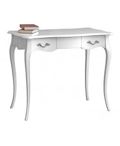 white desk, wooden desk, desk, classic desk, ivory desk,