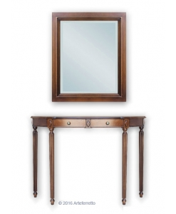 Entryway composition, console with mirror
