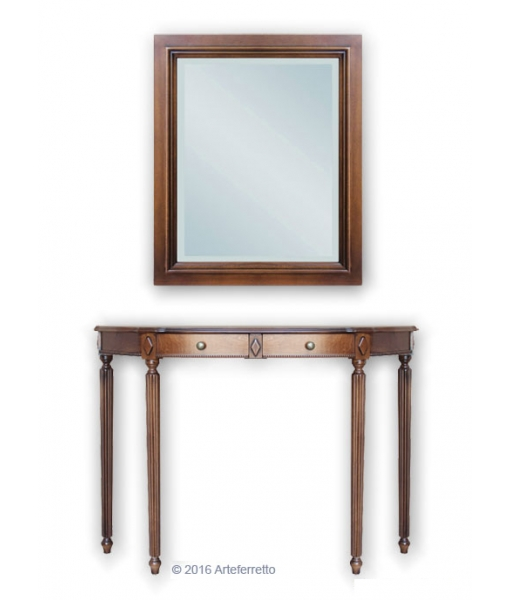 Entryway composition console with mirror, Item n° Comp-2047