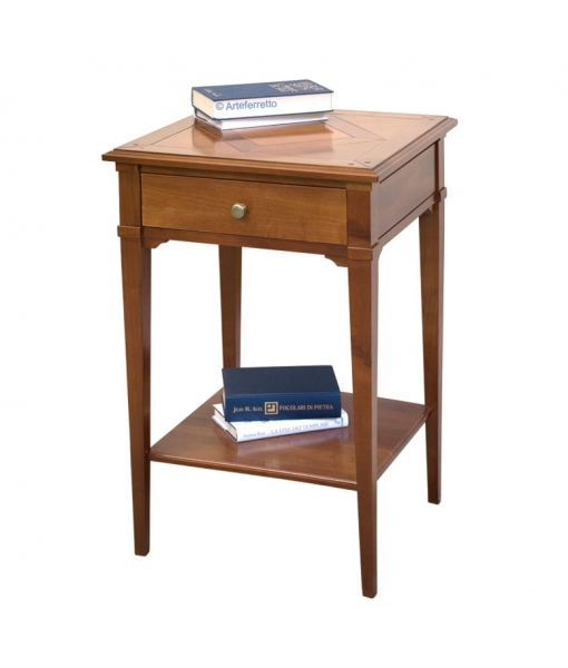Square lamp table with shelf. Sku D904