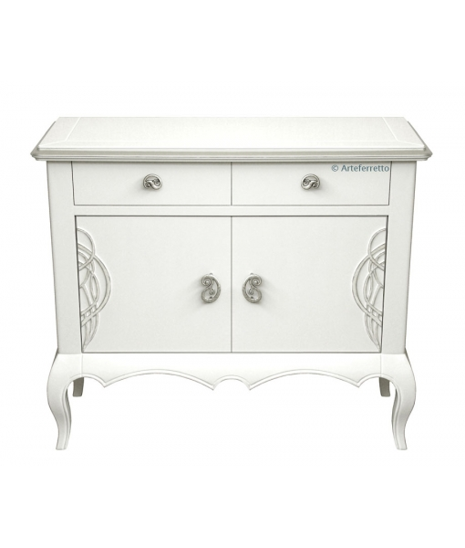 White and silver sideboard. Product code:  DF3008