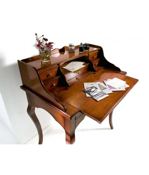 Dettaglio piano aperto scrittoio elegante in legno 13190
