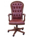swivel armchair, armchair, office armchair, armchair with leather, wooden armchair, classic swivel armchair