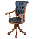 classic armchair, armchair for office, chair for office, armchair with casters