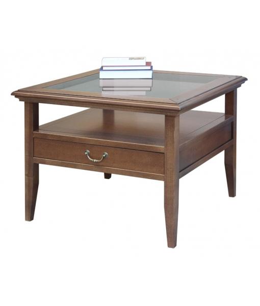 Glass top coffee table for living room. Sku E-214