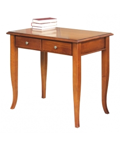 small desk, 2 drawer desk, solid wood desk, desk, wooden desk