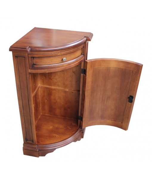 Corner cabinet in wood