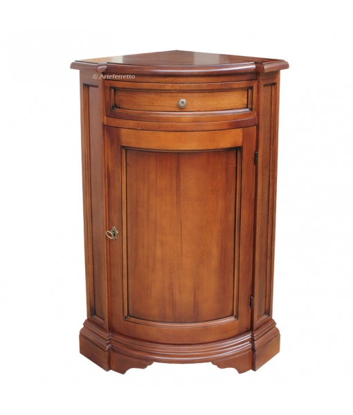 Corner cabinet in wood, SKU: E-6312