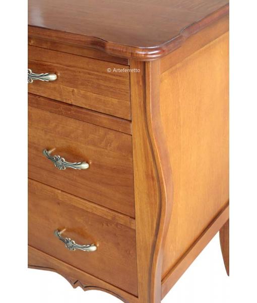 4-drawer rounded dresser