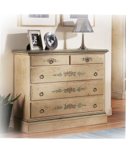 decorated dresser, handmade dresser, wooden structure dresser, chest of drawers, bedroom furniture, classic style dresser, classic chest of drawers, classic furniture for bedroom