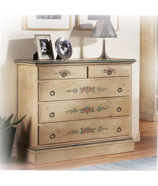 Decorated dresser, handmade dresser. Sku E-9241