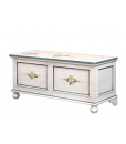decorated storage chest, wooden chest, decorated chest, handmade chest, entryway chest