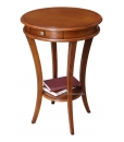 rounded side table, side table, wooden side table, cherry wood side table, side table for living room, living room side table, classic style side table,