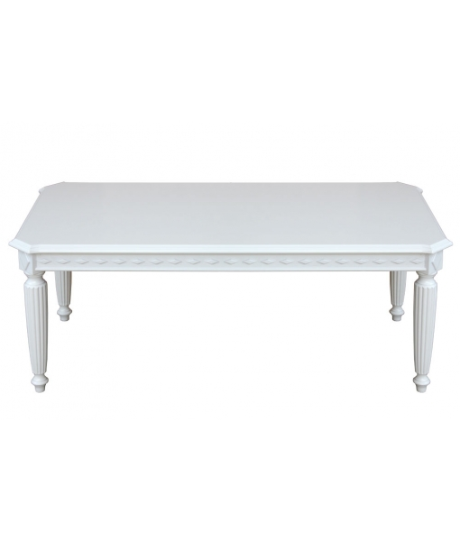 Coffee table, table for living room, tea table, white coffee table, wood coffee table