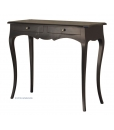 shaped console table, console table, black console table, black furniture, wooden furniture, wooden console table, entryway furniture, black entryway furniture