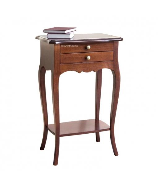 2 drawer side table in wood SKU: ER-2586