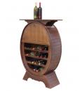 Wooden wine rack with shelf, SKU: ER-2619