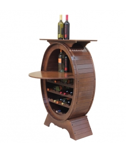 Wooden wine rack with shelf