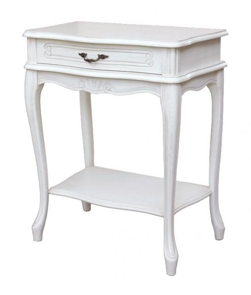 Bedside table with drawer and shelf. Sku ER-58-AV