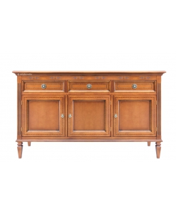 3 door wooden sideboard