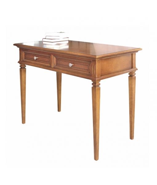 2 drawer inlaid desk, wooden desk. Sku f1-821