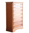wood chest of 7 drawers, wooden dresser, 7 drawers cabinet, bedroom furniture, bedroom chest of drawers, italian design, wood cabinet,