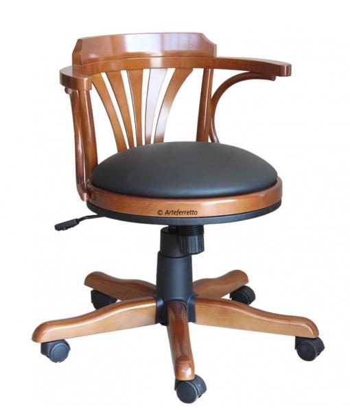 Padded swivel armchair for office. Sku FR-161-B