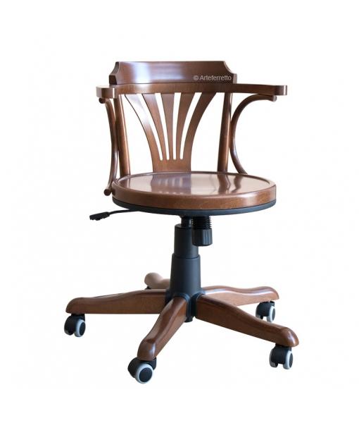 beech wood swivel armchair