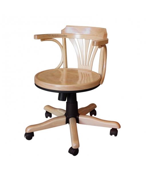 beech wood swivel armchair, swivel armchair, wooden armchair, office chair, office swivel armchair,