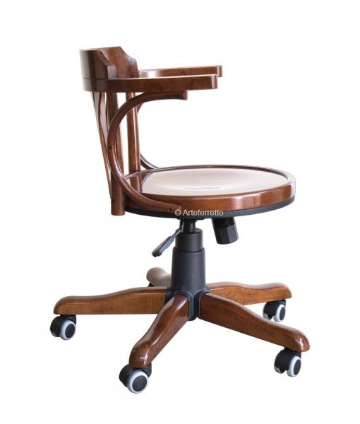 beech wood swivel armchair. Sku. FR-161