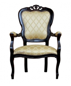 armchair in classic style, black armchair, 800 style armchair, wooden armchair, classic armchair