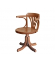 swivel wooden armchair, wooden armchair, wooden office armchair, classic armchair, beech wood armchair, office furniture