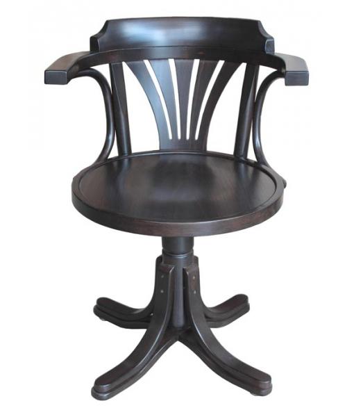 Wenge swivel armchair for office.  FR-839