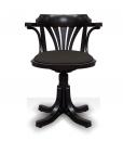 swivel white armchair, swivel black and white armchair, swivel armchair for office, wooden armchair, padded armchair, living room furniture, swivel black chair, black swivel chair, office furniture,