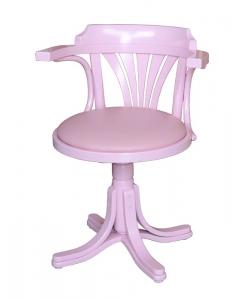 pink armchair, swivel armchair