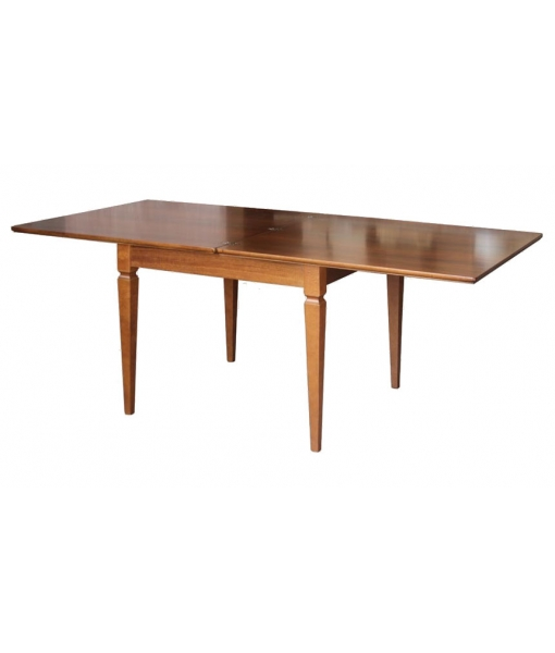 Flip top extending table, extendable table, squared table, kitchen table, dining room square table, wooden table, classic style table, inlaid table, Arteferretto