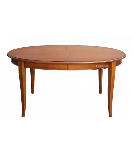 Oval extendable table for dining room. Sku FV-36-PLUS