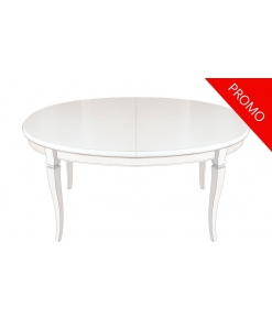 Oval dining table, extendable dining table, wooden table, kitchen table, Italian design table,