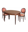 extendable oval table, extendable table, wooden table, kitchen table, classic table, dining room table, turned legs