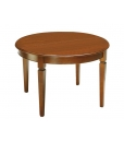 round extendable dining table, kitchen table, round table, classic round table, wooden table, solid wood dining table, dining room furniture, kitchen table,