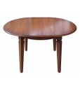 round extendable table in wood, classic table, wooden table, dining table
