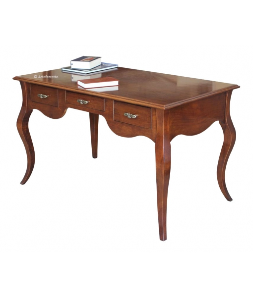 Wooden desk with shaped legs. Product code: FV-54
